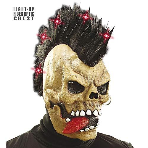 Toter Rocker Kostüm - Widmann 6851F Totenkopf Maske mit Irokese, mens, One Size
