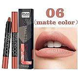 Floweworld neue Lip Matte flüssigen Lippenstift wasserdicht Lip Make-up glänzend 12 Farben Lippenstift wasserdichte rote Farbe Lip Kürbis Farbe
