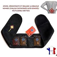 nomadischen Heizungs lumbalen Riemen TRANQUILISAFE® - beruhigt und Schmerzen lindert zurück - sofort Wärme erzeugt durch Selbstwiederverwendbarer Wärmepackungen (4 verfügbar)