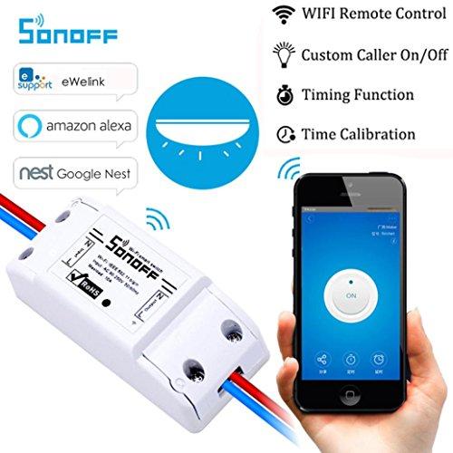 sunnymi Smart Home Switch Control, WiFi Wireless Switch Modul Für Apple Für Android APP Control, Unterstützt Remote, Status Tracking, Single Fernbedienung Schalter