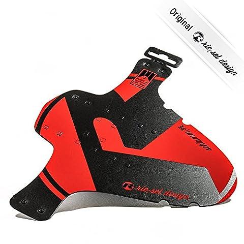 Riesel hinterer Kotflügel/Schmutzfänger für Mountainbike, unisex, Mtb Rear Fender, rot / schwarz