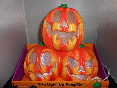 Spooky Hollow Halloween-Kürbisstapel mit Leuchtenden Farben, 30,5 cm