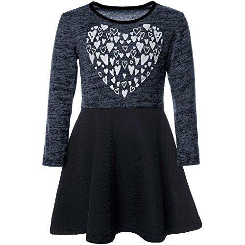 BEZLIT Mädchen Abend-Kleid Glitzer Motiv Freizeitkleid Kostüm 21529