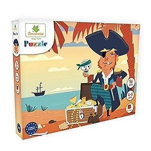 DARPEJE- Pirata-54 Piezas de Puzzles-Sycomore Faujas (PUZ004), (1)