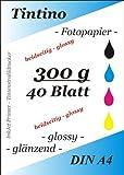 40 feuilles de Papier Photo Double-face A4 300 g/m ²-Double-Face brillant à...