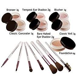 Mineralshack 14 Piece Fairly Neutral Natural Minerals Foundation Makeup Set