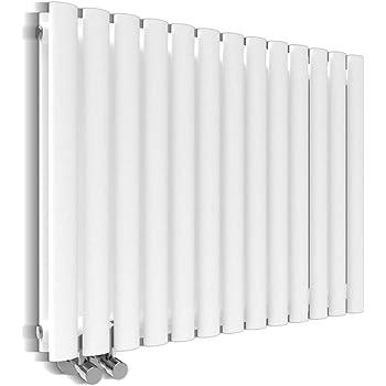Design heizk rper r hren 600x760mm doppellagig badezimmer wohnraum seitenanschluss wei - Radiator badezimmer ...