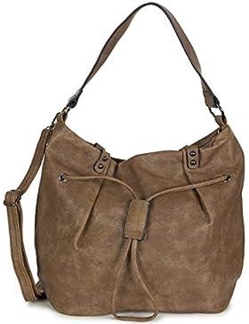 ad4db412f600c L S Collection Damen Beuteltasche Hobo Bag Umhängetasche groß PU Kunstleder  (42 x 32 x 19