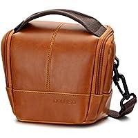 DOMISO Water-restraint Camera Case Shoulder Bag Anti-shock Outdoor with Detachable Strap for SONY / CANON / OLYMPUS / NIKON / PANASONIC / FUJIFILM , Brown