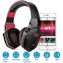 Bluetooth auriculares cancelación de ruido, vprawls cada B3505NFC estéreo V4.1Wireless/Wired Over-Ear Auriculares para juegos con micrófono para PC del ordenador portátil del MAC iPhone Smartphone