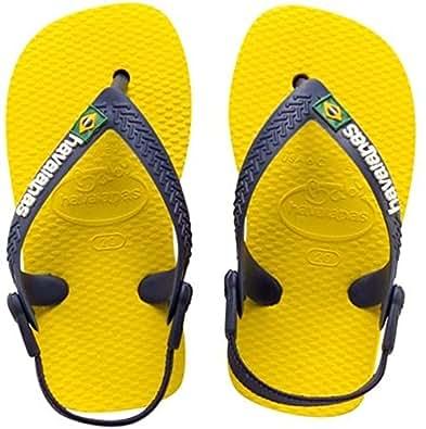 Havaianas Unisex-Baby Baby Brasil Logo Flip Flops Citrus Yellow 5 UK Child(EU 23)