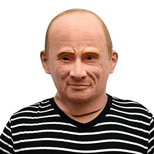 Russian president Vladimir Putin russicher Präsident Maske mask aus sehr hochwertigen Latex Material mit Öffnungen an Augen Halloween Karneval Fasching Kostüm Verkleidung für Erwachsene Männer und Frauen Damen Herren gruselig (Masken Präsident)