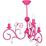 LIWIA DARK PINK/DUNKEL ROSA 3 Hängelampe Deckenleuchte Deckenlampe Kronleuchter