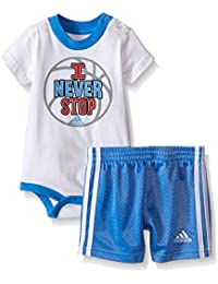 Adidas Baby Boys' Body Shirt and Short Set