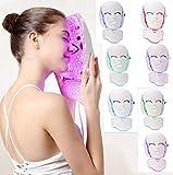 LJMM 7 Colores Cara Luz Fotón LED Máscara Tratamiento de rejuvenecimiento de la Piel Cuello Facial Ajuste de la Piel Blanqueamiento Anti Arrugas Eliminación del acné Máquina de Belleza