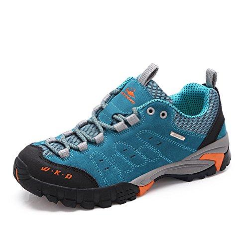 ukStore Bequem Sportlich Wanderschuhe Walking Running Outdoor Schuhe Velour Profilsohle Bergstiefel Mesh Trekking Stiefel Herren Damen Kinder Blau