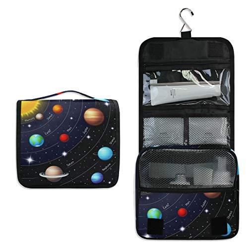 DOSHINE Universum Weltraumgalaxie Solar System Hängende Kulturtasche Kosmetiktasche für Frauen Mädchen Reise Badezimmer (Hängende Solar System)
