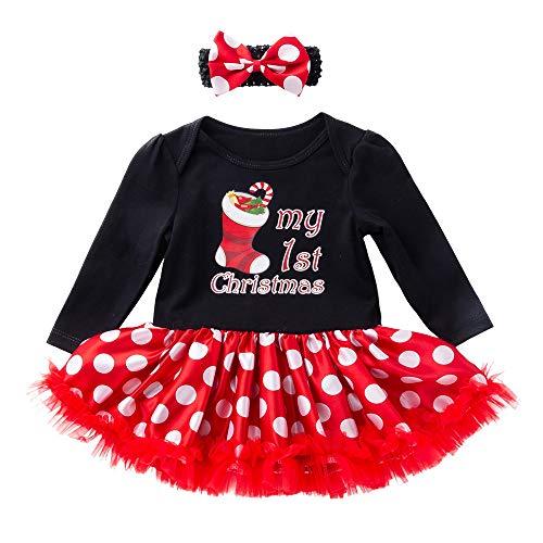 Filles Vêtements Ensemble, Enfant Nouveau-né bébé Filles Chaussettes de  Noël Princesse Lettre Tutu 790bfc4c1c4