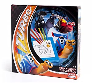 DreamWorks - Turbo, dibuja y colorea tus cuadros (Dinova D0557001)