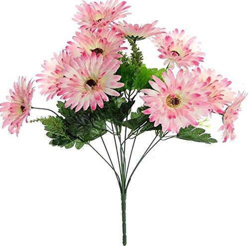 Fourwalls Gerbera Bunch (10 Flowers, Pink)