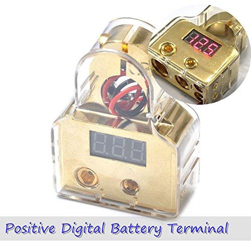 ETbotu 1/0/4/8Gauge 12V DC Positive oder Negative Digital Akku Terminal Terminal 1/0 Gauge