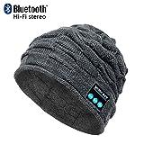 CoCo Fashion Waschbare Bluetooth Beanie Hut Musik Cap mit Wireless Stereo Bluetooth Kopfhörer 4.2 In Ear Kopfhörer Headset für Sport & Outdoor, kompatibel mit Iphone Android Handys