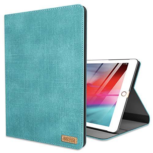 TORRAS Neues iPad 9.7 Zoll 2018/2017 Hülle, Ultra Dünn Smart Case Denim Hochwertiges PU Leder Schutzhülle mit Ständer und Auto Einschlaf/Aufwach Funktion Hülle für Neu iPad 9.7 2018/2017 - Mint
