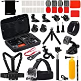 Luxebell 22-in-1 Accessories Bundle Kit for Gopro Hero 4 Black Silver Hero+ Lcd 3+ 3 2 Camera and Sjcam Sj4000 Sj5000 - Selfie Stick / Chest Mount Harness / Head Strap / Flexible Tripod