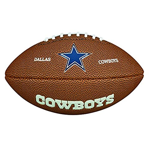 Wilson American Football, NFL Certified, Recreational Use, Mini Size, NFL TEAM LOGO DALLAS COWBOYS, Brown, WTF1533XBDL