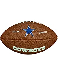Wilson NFL Team Logo Dallas Cowboys - Mini balón de fútbol americano, color marrón, talla única