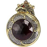 AMPM24 WPK043-Orologio da tasca uomo,Metallo,Drago Cinese Analogico Quarzo,+ Catenella,colore:Oro - Drago Quarzo Orologio