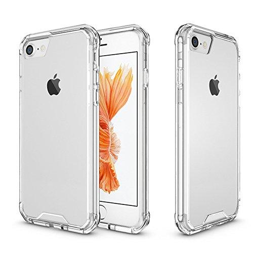 AVIDET Cover für iPhone 8  iPhone8 Phone Cases Transparente Rüstung Fällen für TPU + Acryl Telefon Fall für fundas iPhone 8  iPhone8(Transparent) Transparent
