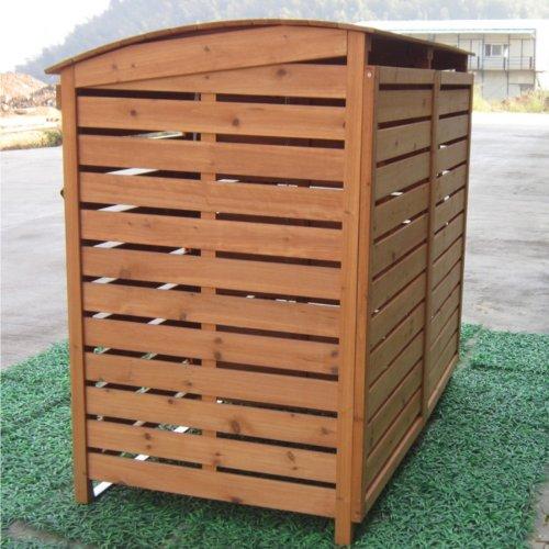 m lltonnenverkleidung mit r ckwand 2 m lltonnen 240l m lltonnenbox holz m llcontainer. Black Bedroom Furniture Sets. Home Design Ideas