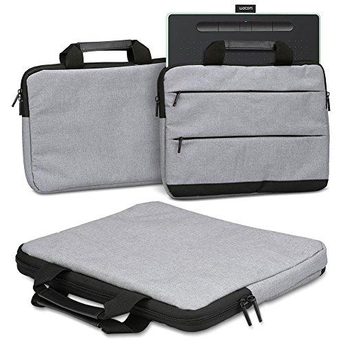 Schutzhülle Wacom Intuos M Grafiktablett Tasche Sleeve Case Stifttablett Hülle in Grau Tragetasche mit Griffen Universal Schutztasche, Farbe:Grau