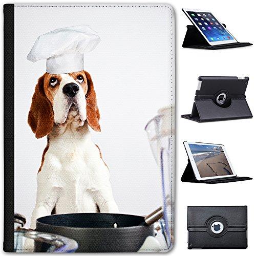 chef-beagle-dog-funny-faux-leather-case-cover-folio-for-the-apple-ipad-mini-ipad-mini-2-ipad-mini-3