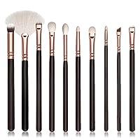 Tonsee 10PCS Pro MakeUp Cosmetic Set Eyeshadow Foundation Brush Set