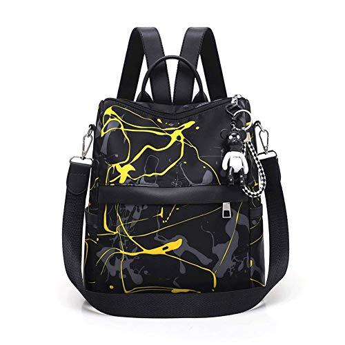 Unisex Schulrucksack - Mode College Wind Oxford Stoff Reisetasche, Handtasche Umhängetasche Schulter Laptop Rucksack-yellow