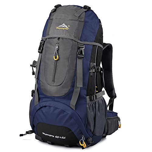 Imagen de vbiger  impermeable 65+5l per alpinista senderismo viajes azul