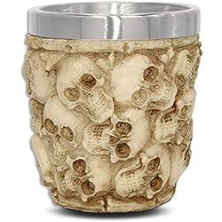 mtb more energy Copa Catacumbas - Vaso pequeño Calavera cráneo (5cl) - Calavera cráneo - Altura 6 cm - Decorazione Horror Medieval Fantástico