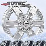 4 Winterräder Autec Quantro 6,5x16 ET51 5x120 Brillantsilber mit 215/65 R16C 109R Continental VanContact Winter 8PR für VW T6