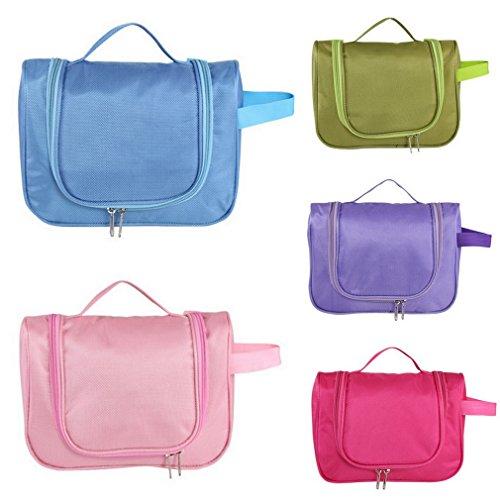 COMVIP Reise Wasserdichte Kulturbeutel Reisetasche Make Up Taschen Aufbewahrungsbox Make-up-Pinsel Organizer Violett Violett