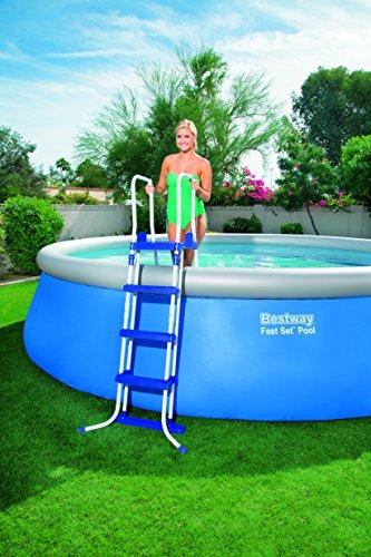 Bestway Steel Pro Frame Set Above Ground Pool – Blue, 15 Ft