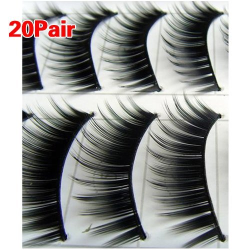 BeautyLife 20 Pairs Natural Makeup False Fake Eyelash Eye (Make Fake Up)