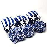 Drivers, Fairway Woods, Hybrids 3pcs Pom Pom Sock Set Vintange Knit Universal Golf Head Covers Fit for All Golf Brands Taylormade, Cobra, Nike Titleist, Callaway, Ping,