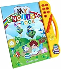 Furnishing Factory My English E-Book Educational Book for Kids Above 2 Years | Letter A-Z, Number 1-10, Animal, Fruit, Vegetable, Shape & Color, Vehicle