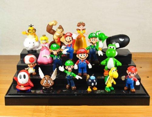 """18Pcs Set 1-3"""" Super Mario Bros Figure Toy Doll Pvc Figure Collectors By Sanlise 3"""