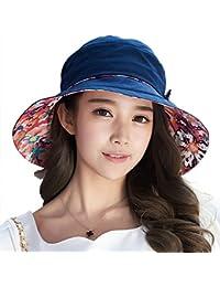 Siggi Ladies Bucket Summer Sun Hat Foldable Beach Cap Wide Brim UPF50+ Packable for Women