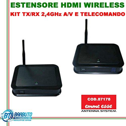 RIPETITORE TRASMETTITORE AUDIO VIDEO E TELECOMANDO HD HDMI 2.4ghz EMMESSE 87178