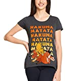 König der Löwen Disney Damen T-Shirt Hakuna Matata grau - XL