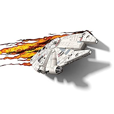 3D Light FX 50034 Star Wars Millennium Falcon 3D Deco Light, Plastic, White/Grey/Cream - low-cost UK light shop.